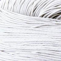 Шнур Вощеный Хлопковый, Цвет: Белый, Размер: Толщина 2мм, около 80м/связка, (УТ100005732)