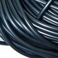 Шнур Резиновый Синтетический полый, Цвет: Черный, Размер: Толщина 4мм, Отверстие 1.5мм, около 120м/связка, (УТ100005657)