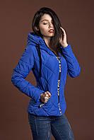 Женская молодежная демисезонная куртка, электрик, S, M, L, XL размеры