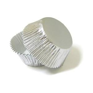 """Форма картон """"кекс"""" серебро 4см(код 01943)"""