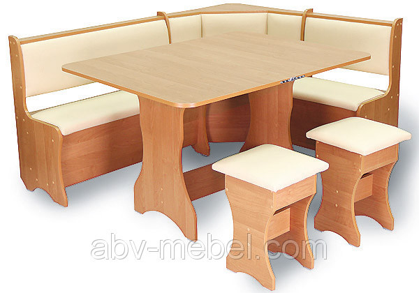 Кухонный уголок (стол+2 табурета)
