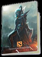Обложка для паспорта  Phantom Assassin, Dota 2 (фантом асасин, Дота 2, два)