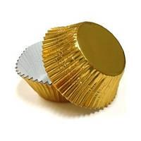"Форма картон ""кекс""золото D4см (код 02652)"
