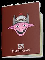 Обложка для паспорта  TimberSaw, Dota 2, #2 (Дота 2, два)