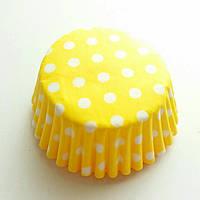 Бумажные формы для кексов 25 шт горох d-3 см