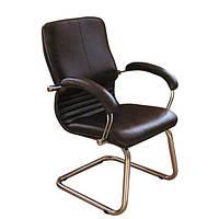 Кресло Ника CF хром кожа сплит черная