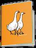Обложка для паспорта  Гусь Обыкновенный