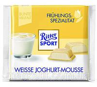 Шоколад Ritter Sport WEISSE JOGHURT -MOUSSE (БЕЛЫЙ ЙОГУРТОВЫЙ МУСС)) Германия 100г