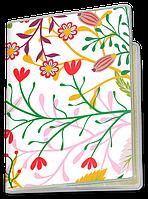 Обложка для паспорта  Красные Маки (растения, цветы, флора, узоры)
