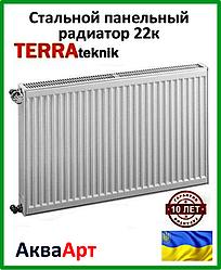 Стальной радиатор Terra teknik 22k 500*500 боковое подключение