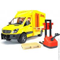 """Грузовая Машинка Bruder МВ Sprinter """"Курьерская доставка грузов"""" с погрузчиком, 1:16 (02534)"""