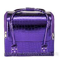 Бьюти Кейс для косметики, фиолетовый лаковый