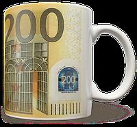 Чашка, Кружка 200 Евро, Деньги