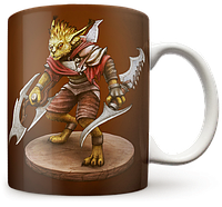 Чашка, Кружка Bounty Hunter, Dota 2, #3 (хантер, Дота 2, два)