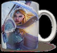 Чашка, Кружка Crystal Maiden, Dota 2 (кристал мейден, Дота 2, два)