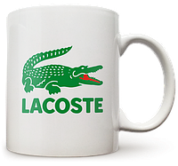 Чашка, Кружка Lacoste (лакост, крокодил, Бренд, фирма)