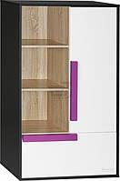 Стильный шкаф с полками и распашной дверцей