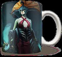 Чашка, Кружка Naga Siren, Dota 2, #1 (нага сирен, Дота 2, два)