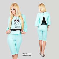 Женский костюм с бриджами батал 118.1 (040)