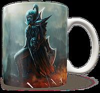 Чашка, Кружка Phantom Assassin, Dota 2 (фантом асасин, Дота 2, два)