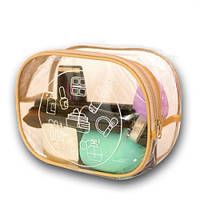 Прозрачная косметичка для бассейна/сауны/путешествий (бежевая)