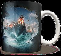 Чашка, Кружка World Of Warship, #1 (Варшипс, корабли, Игра)