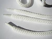 Шнурки для обуви 1,2 м, белые толстые, диаметр 5 мм.