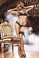 Эротические трусики стринги Glitter Lace Thong от BACI Lingerie