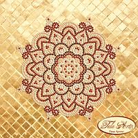 Схема для вышивки бисером Мандала Золото и Марсала