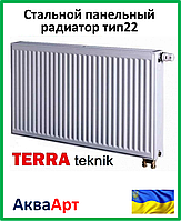Стальной радиатор Terra teknik 22 k 500*1500 (нижнее подключение)