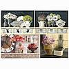 Бумага для декупажа 21х30 см Цветочные натюрморты (часы)