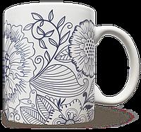 Чашка, Кружка Синие Цветы (растения, цветы, флора, узоры)