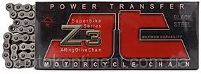 Мото цепь 530 110 звеньев JT JTC530Z3 сальник X-Ring стальная Усиленная (замок под  расклепку)