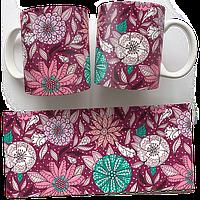 Чашка, Кружка Фиолетовые Цветы (растения, цветы, флора, узоры)