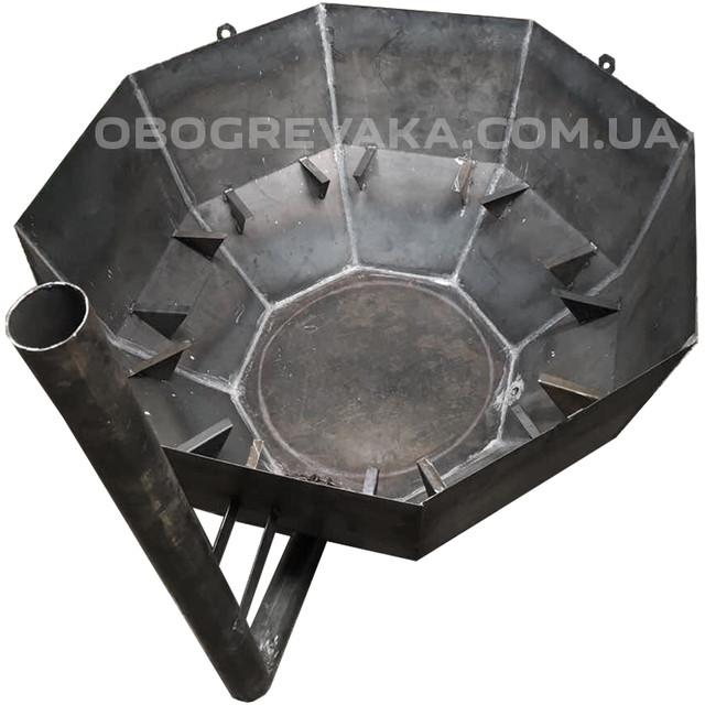 самый простой чан из железа для бань на дрова