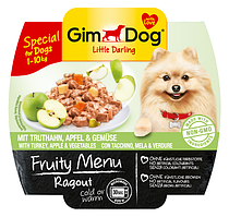 GimDog Little Darling Fruity Menu (консерва) Рагу из индейки, яблок и овощей 100 г*2шт