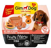 GimDog Little Darling Fruity Menu (консерва) Паштет из говядины с папайей 100 г* 2шт