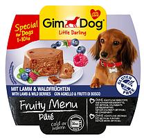 GimDog Little Darling Fruity Menu (консерва) Паштет из ягненка и лесных ягод 100 г*2шт