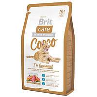 Brit Care Cat Cocco 7кг-корм с уткой и лососем для привередливых кошек с чувствительным пищеварением