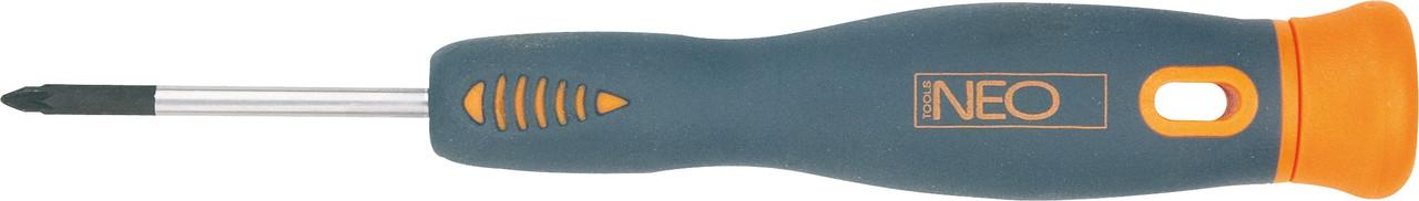 Отвертка крестовая прецизионная PZ0-PZ1 x 40 мм, CrMo, NEO 04-088, 04-089