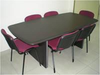 Офисный темный стол для переговоров Максимус 4