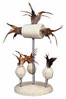 Trixie TX-40721 мячи Luffa с перьями на пружинах,15х30см