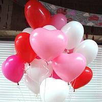 Воздушные шары в виде сердца с гелием
