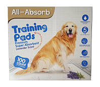 Пеленки для собак  All-Absorb Premium Training Pads 56х58см /100штук