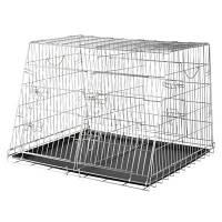 Trixie TX-3930 Клетка для собак оцинкованная двойная Трикси.