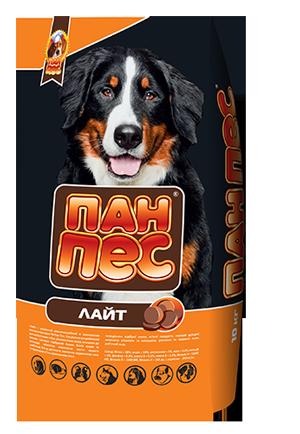 Пан-Пес Лайт 10кг-корм для собак склонных с полноте