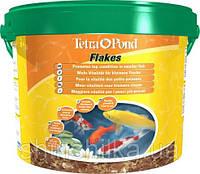 Tetra Pond Flakes 10 L  смесь хлопьев для мелких рыб 10л (172012)