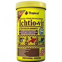 Tropical Ichtio-Vit 1л - корм для кормления аквариумных рыб(мягкая упаковка)