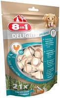 8in1  Dental Delights XS  кость для чистки зубов у собак с вкусом мяса 21шт (117261)