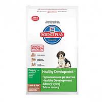 Hills  Science Plan Puppy Healthy Development Ягненок и Рис 3кг-корм для щенков с ягненком (7696)